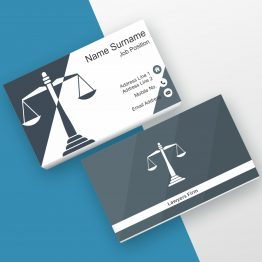 Advocate black and white business card