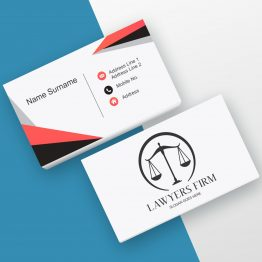 Advocate red and black business card